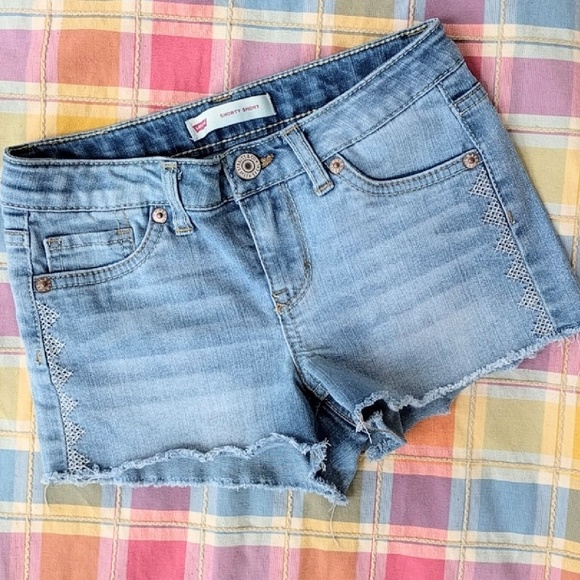 de7283f97a Levi's Bottoms | Levis Girl Shorty Short Jean Denim Shorts Sz 8 ...